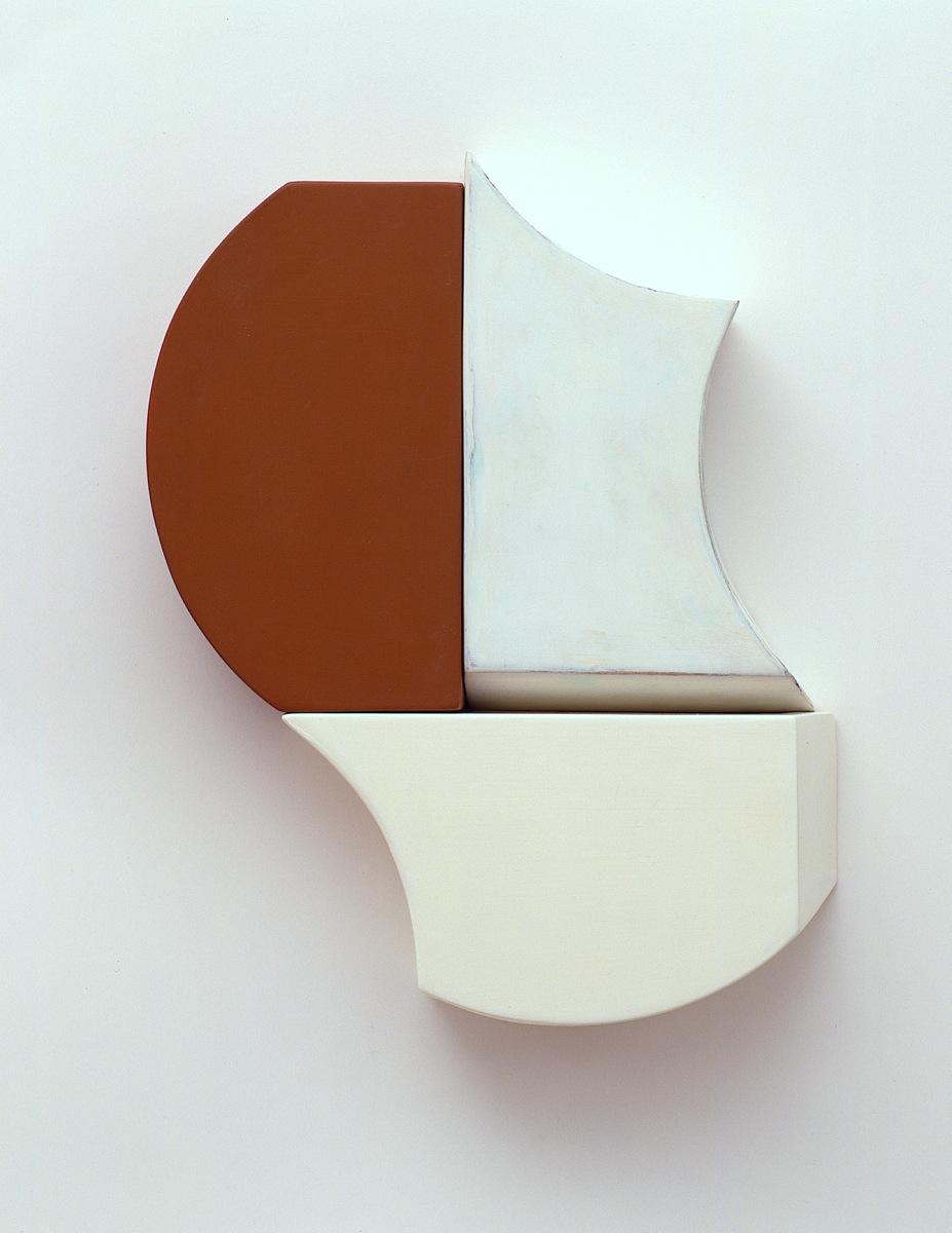 """R1 A"", 42x45x10cm, Acrylfarben, Holz, 1999"