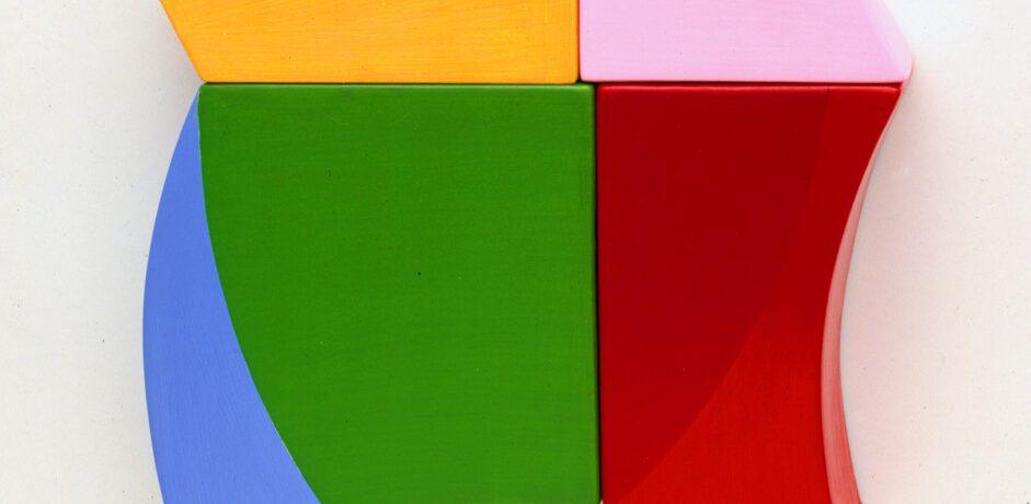 Muriel, 35x36x8cm, Acrylfarbe, Holz, 1994