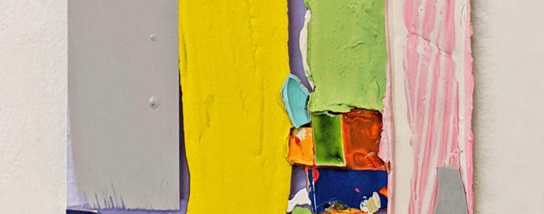 """Scheiblette I"", 31x29 cm, Acrylfarbe, Plexi, 2010"