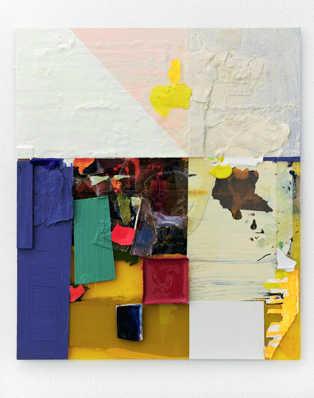 """Scheiblette III"", 42x38 cm, Acrylfarbe, Plexi, 2010"