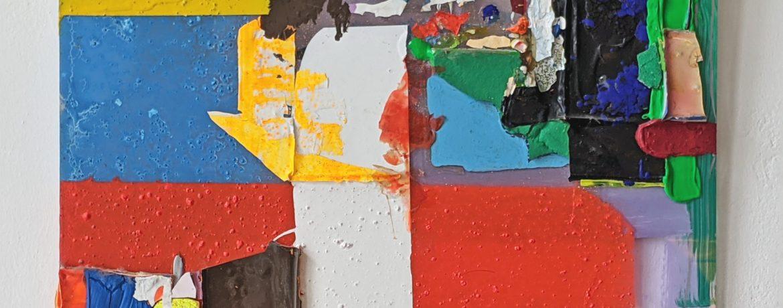 """Scheiblette VI"", 31x41,5 cm, Acrylfarben, Plexi, 2010"