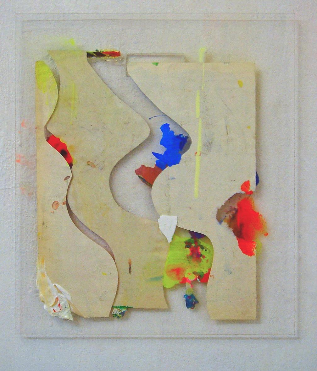 """All Stars Darling"", 30,5x25cm, Plexi, Acryl, Papier, 2014"