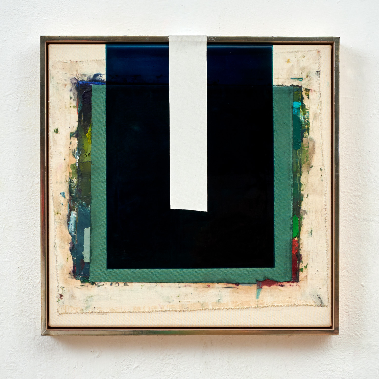 Nachbilder, 2019 mixed media on canvas, frame, 60 x 60 cm