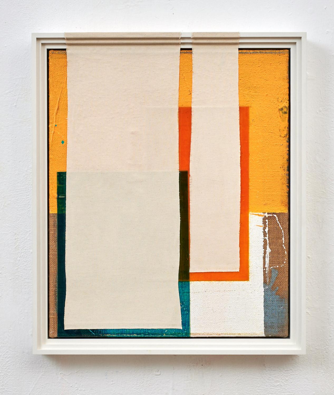 Nachbilder, 2019 mixed media on canvas, frame, 80 x 60 cm