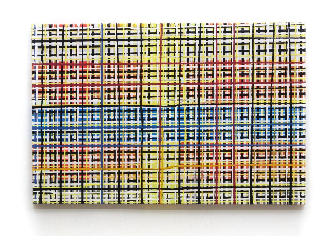 E-Gitter, 140 x 80 cm, Acryl auf Leinwand, 2006