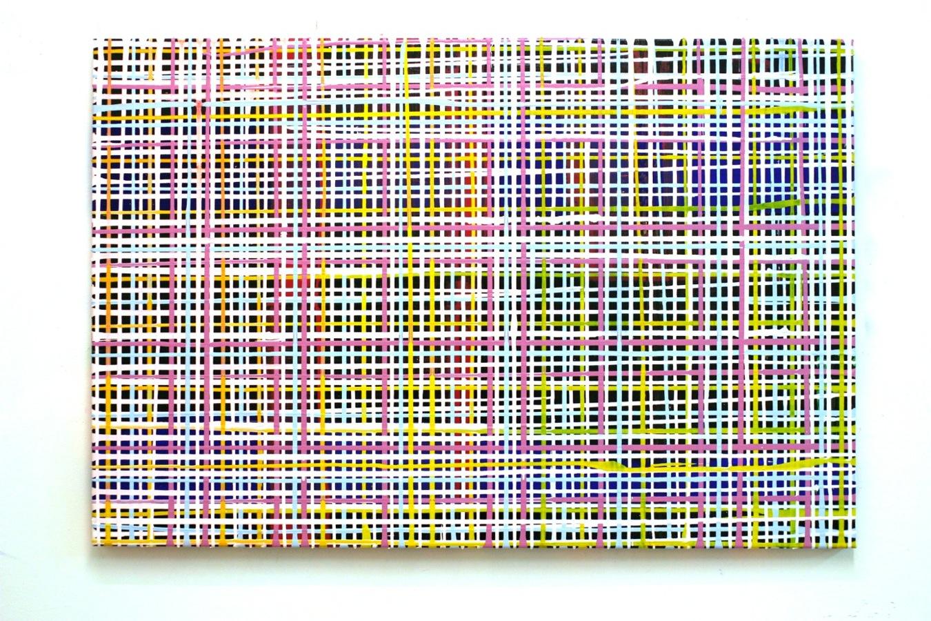Gitter light, 140 x 80 cm, Acryl auf Leinwand