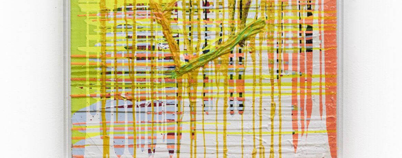 Nido, 85 x 85 x 6,5 cm, Acryl auf Jute, Plexigerahmt, 2009