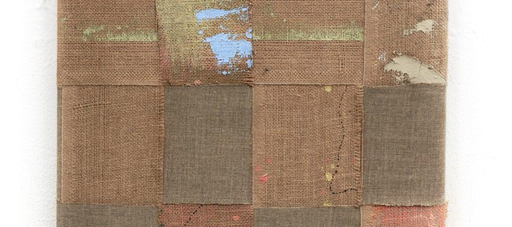 Sack Farbe, 50 x 40 cm, Acryl auf Jute, 2018