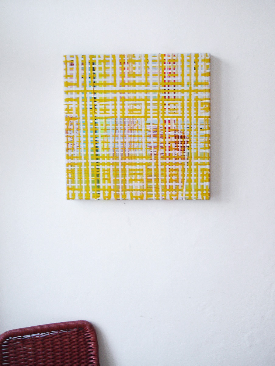 """Shine on"", 50x50 cm, Acrylfarbe, LW, 2004"