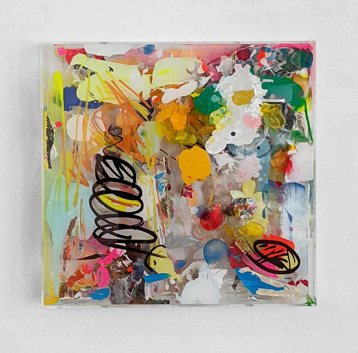 """""""Color Window II"""", 52x52x9,5 cm, Acryl, Holz, Plexi, 2019"""
