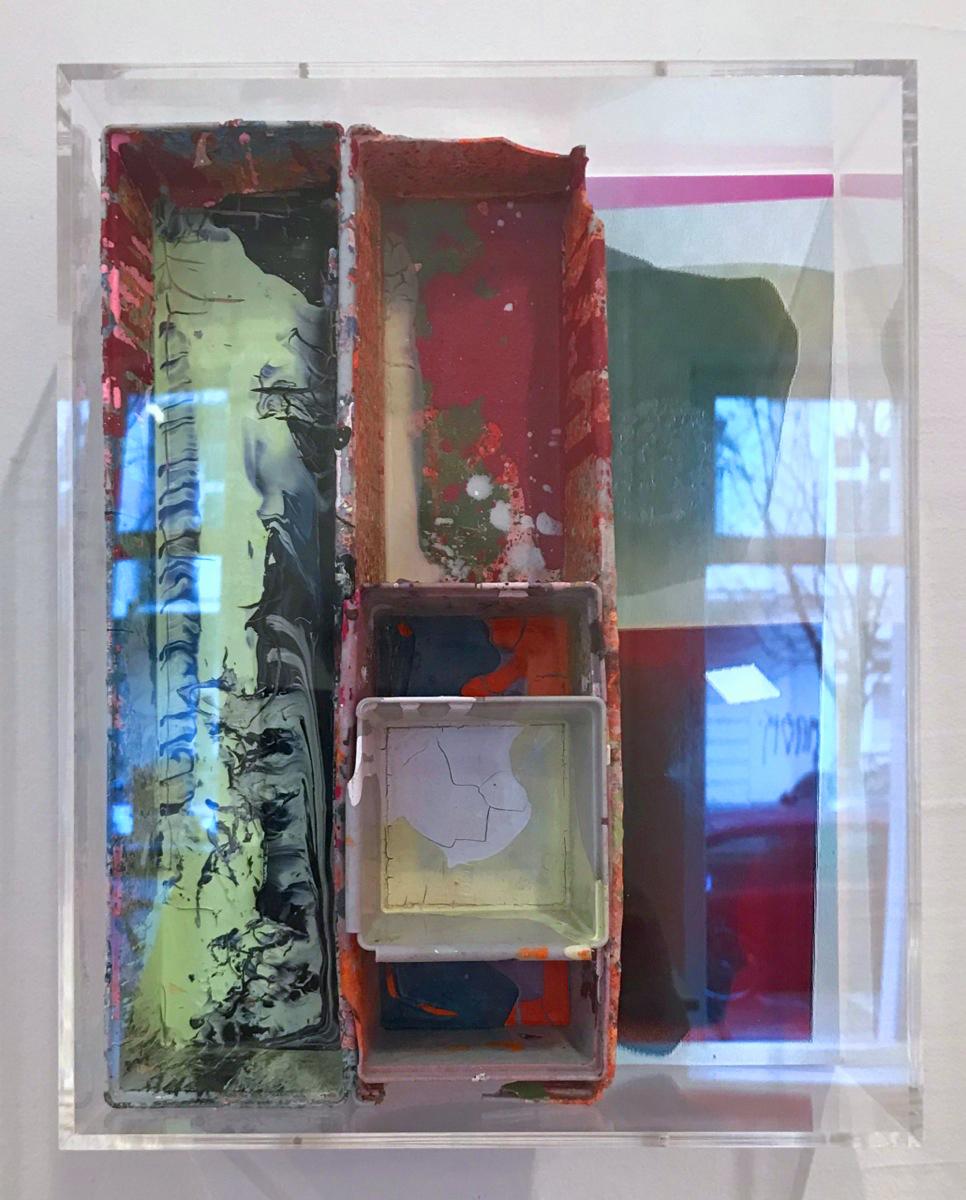"""""""Komplott"""", 25x31,5x10,5 cm, Acryl, Foto, Holz, Plexi, 2019"""