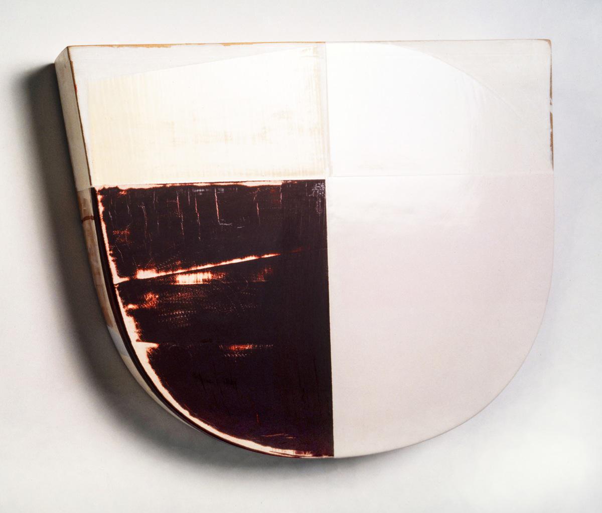 """""""Segment"""", Acrylfarbe, Holz, 50x45x7cm, 1995"""