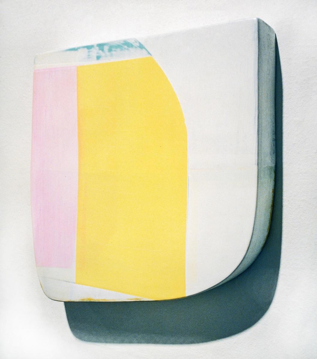 """""""Vom S II"""", Acrylfarbe,Holz, 45x45x10cm, 1997"""