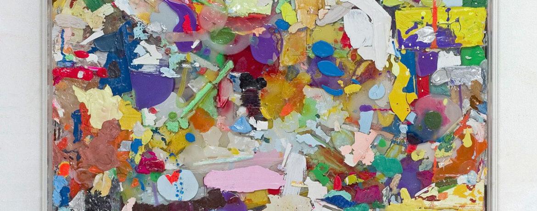 """Farbkasten I"", 2010, 68x68x6 cm, Acrylfarbe, Spiegel, Holz, Plexi"