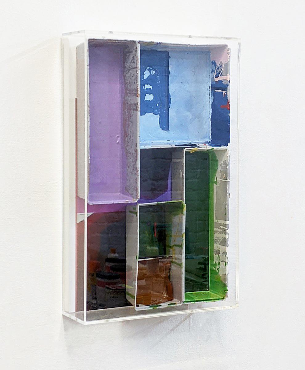 """""""Long Vehicle"""", 2020, Acryl, Foto, Holz, Plexi"""