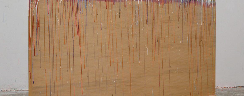 """""""Farbtafel/Tafelfarbe"""" 2002x103x12cm Acrylfarbe, Holz, 1996"""
