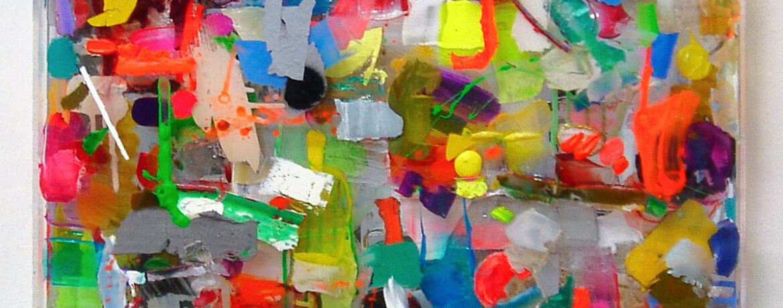 """The nice Case"", 67x67x5,5cm, Acryl,Spiegel,Holz,Plexi 2011"