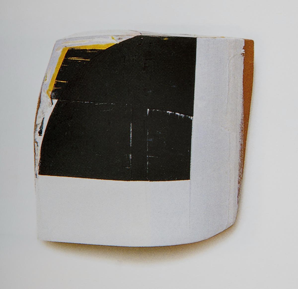 """""""Vom R I"""", Acrylfarbe, Holz, Pressspan, 33x34x12cm, 1996"""