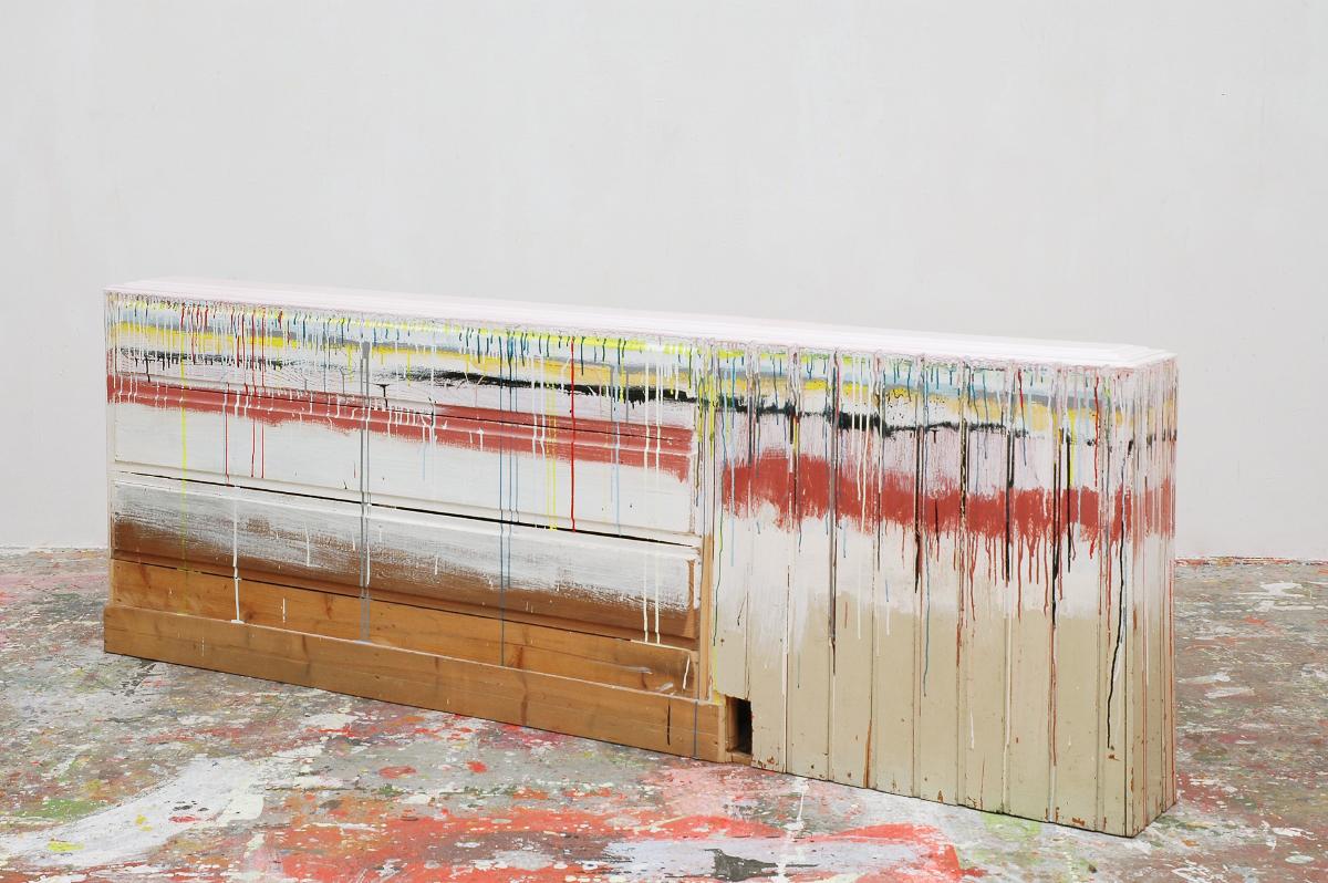"""""""Farbwand-Acryl"""", Holz, 1996"""