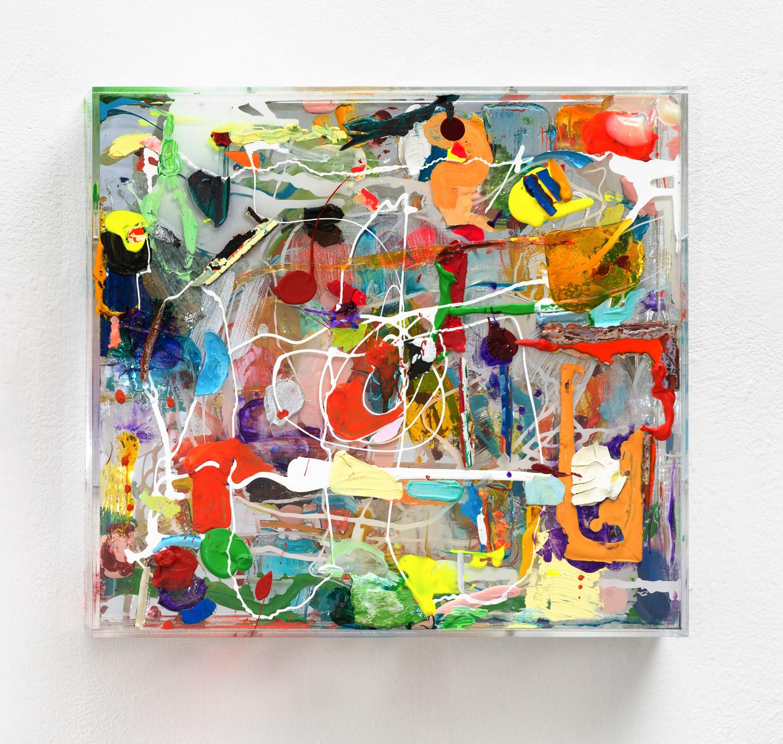 """Mirror-Box"", 2014, Acryl, Spiegel, Holz, Plexi"
