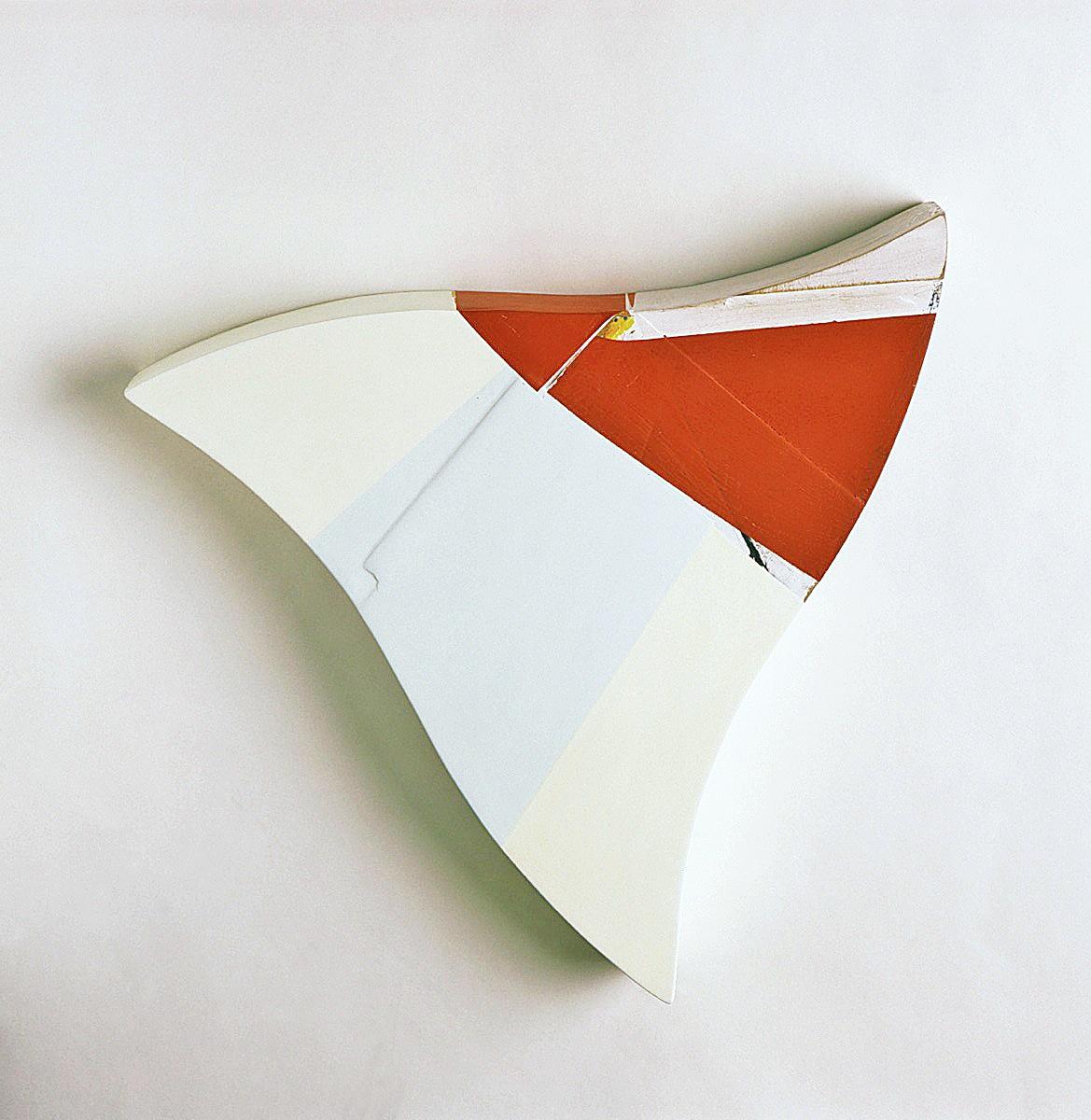 """""""Triangel Rot"""", 45x45x10cm, Acrylfarbe,Holz 1997"""