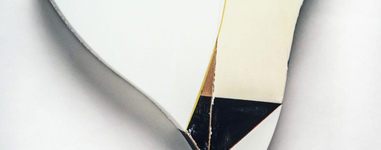 """""""Triangel Schwarz"""", 45x45x10cm, Acrylfarbe,Holz, 1997"""