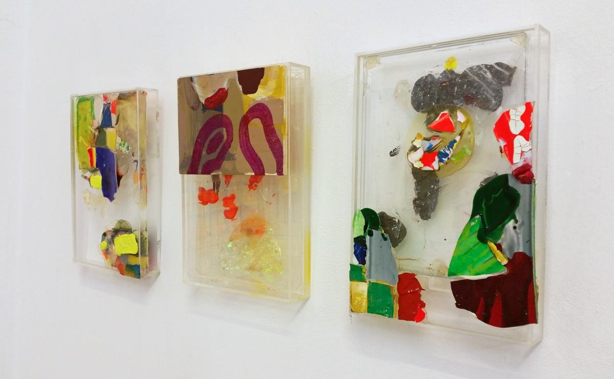 """""""Bunch of Colors"""", 2019, 54x54x5 cm, Acryl, Plexi, Holz"""