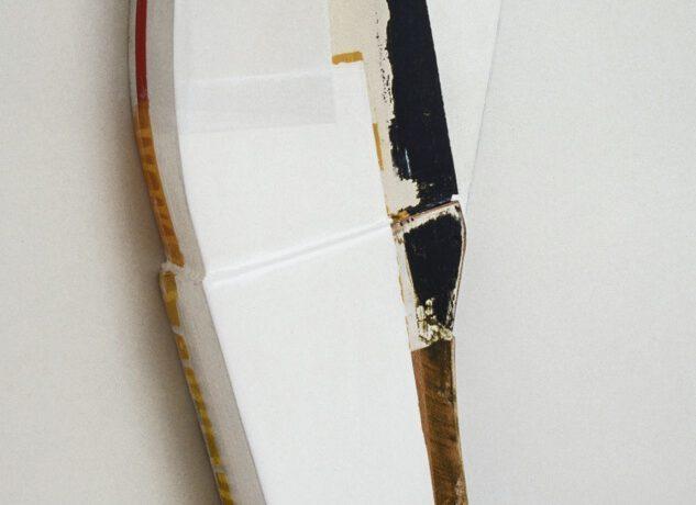 """""""Wood white"""", Acrylfarbe,Holz, 1997"""