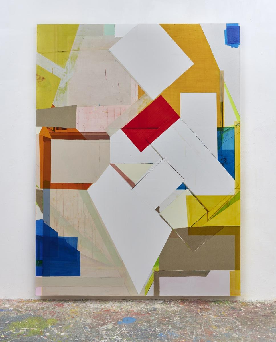"""Next König"", 260x195x6 cm, Acrylfarbe, div.Stoffe, Leinwand, 2019"