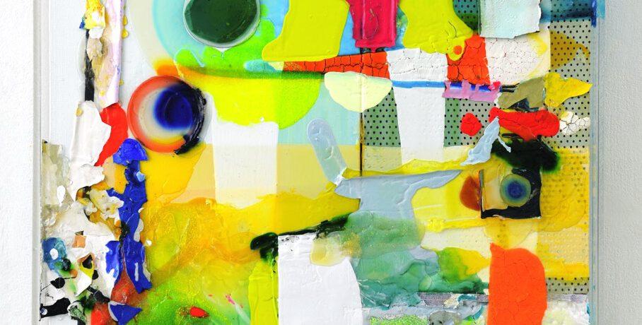 """Farbrelief"", 2010, 73x55 cm, Plexi, Acryl, Steropor, LW"