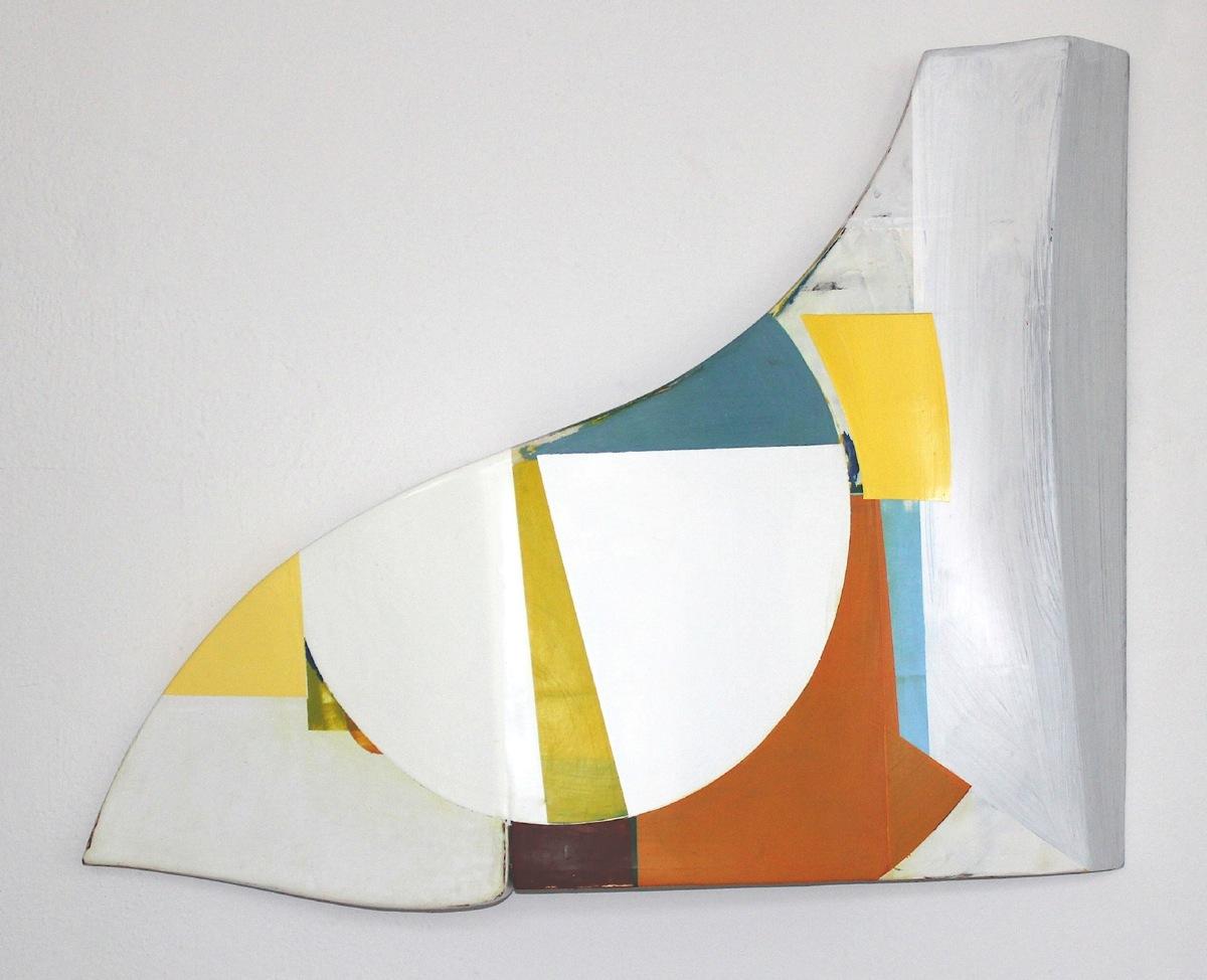 """Vom S IV"", Acryl,Holz, 1997"
