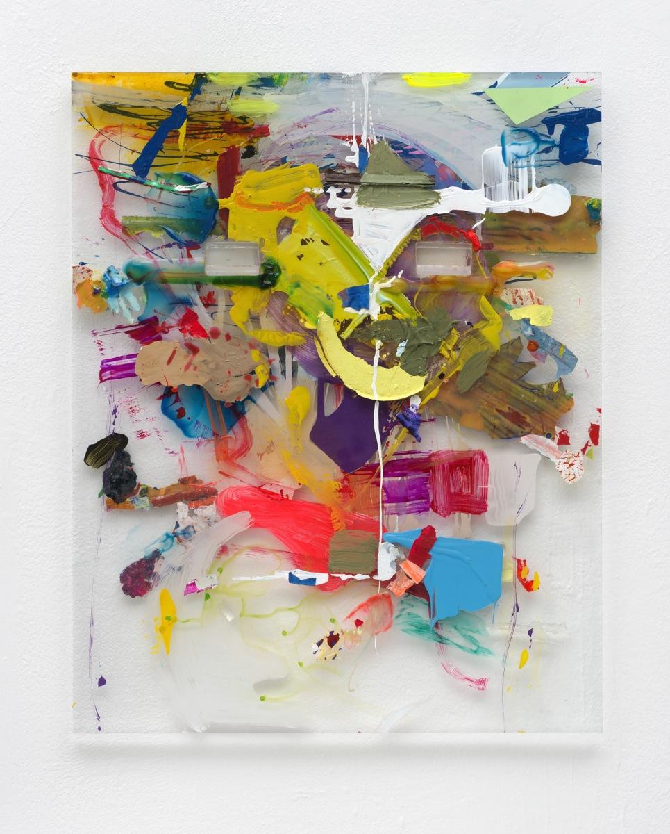 """Skull"", 2014, Acrylfarbe, Plexi"