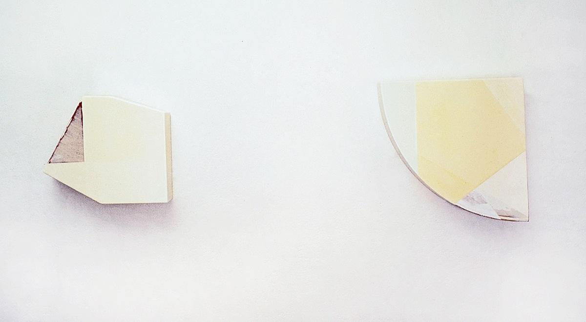 """Double Angi"", Acrylfarbe,Holz, 1995"
