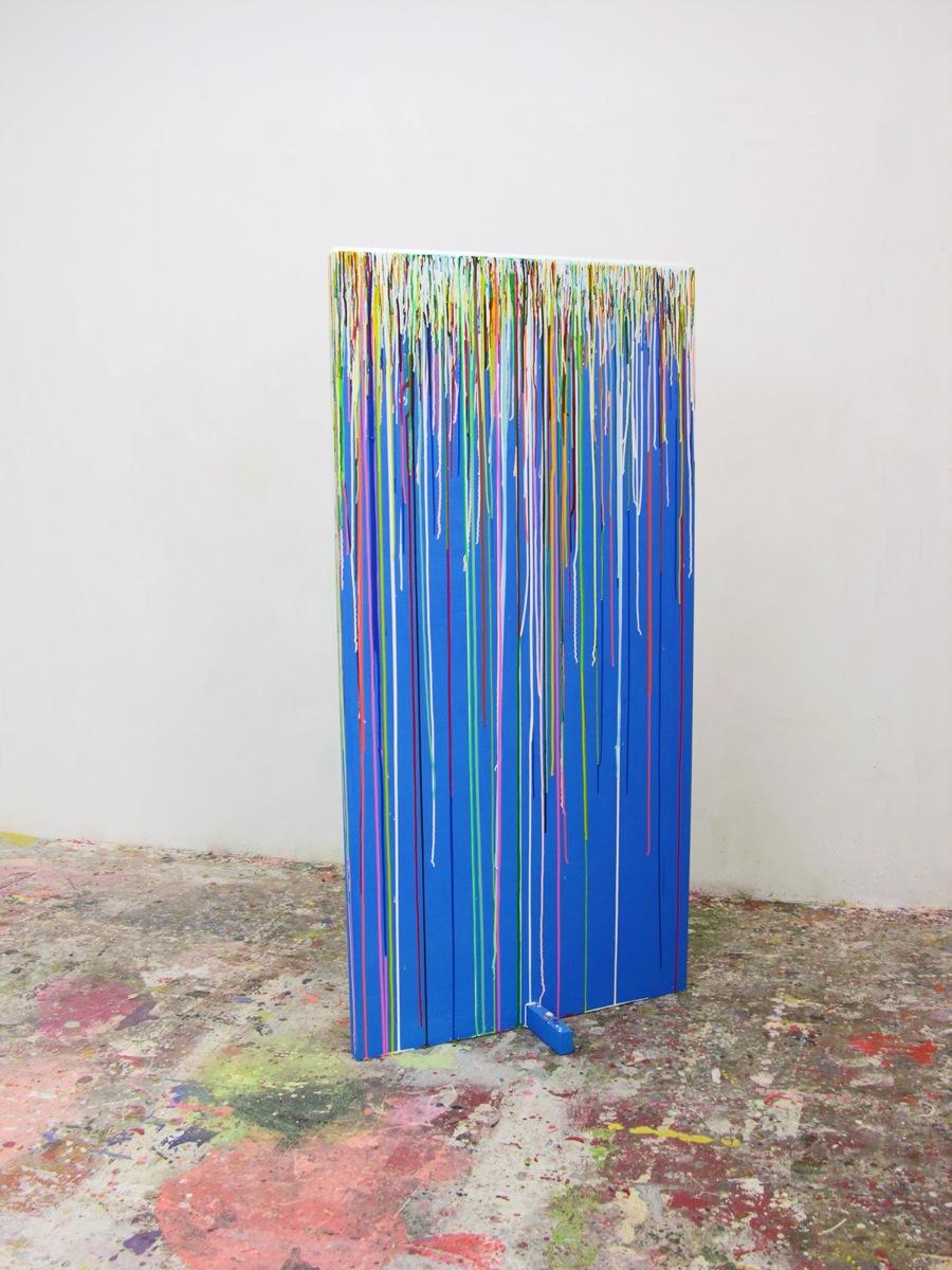 """Farbenfall"", 200x100x50cm, Acrylfarbe, Holz, 2000"
