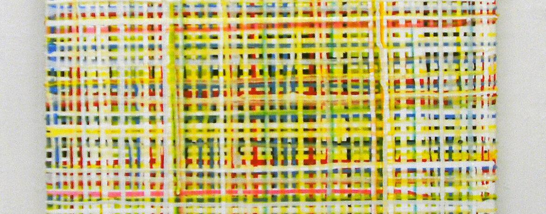 """""""Lemon Juice"""", 50x50 cm, Acryl, Jute, 2004"""