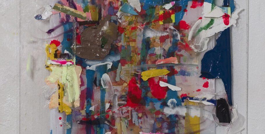 """Scheiblette"", 21x30 cm, Acrylfarbe,Plexi, 2015"