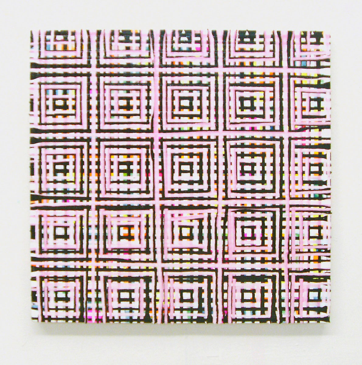 """Gridgrid"", 50x50 cm, Acrylfarbe, Leinwand, 2008"