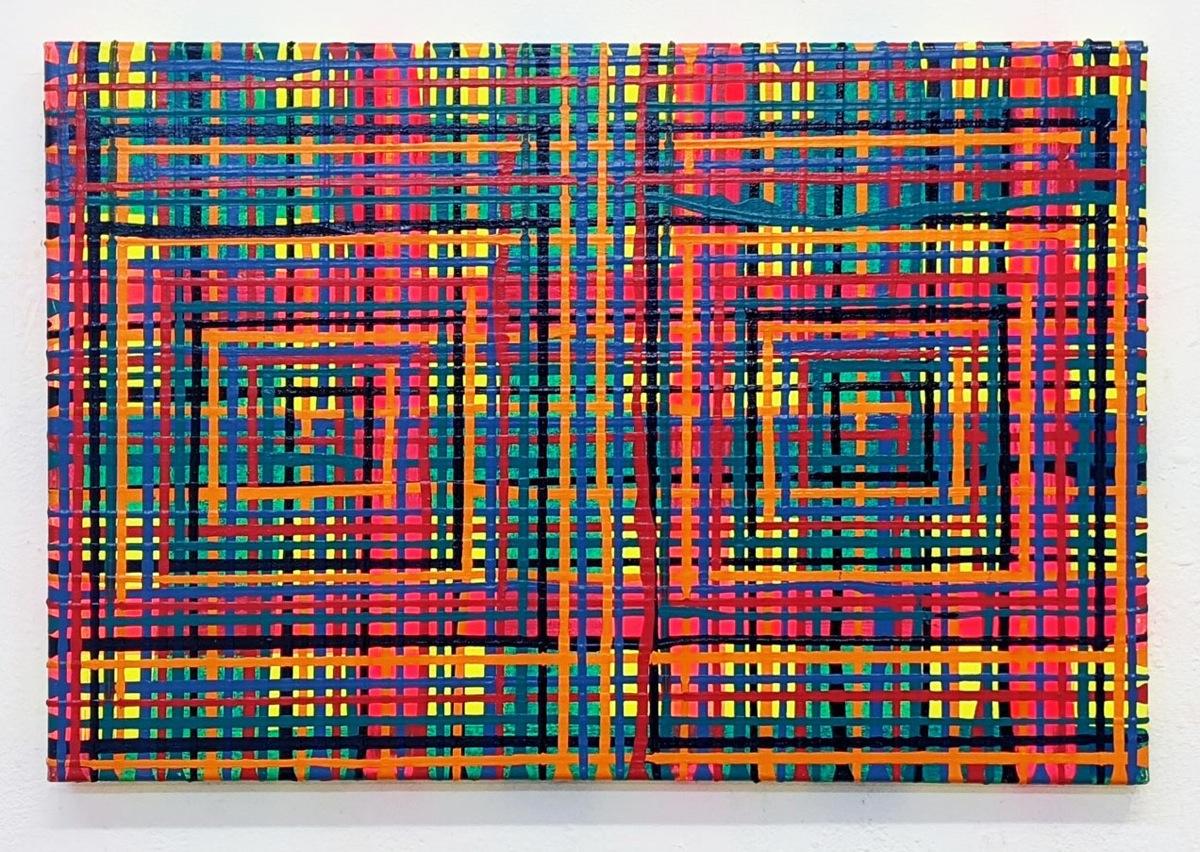 """""""Im Blick"""", 50x75 cm, Acryl auf LW, 2003"""