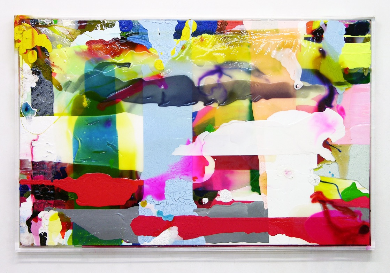 """""""Big Narration"""", 2007, 94x146x6 cm, Plexi, Acryl, Canvas"""