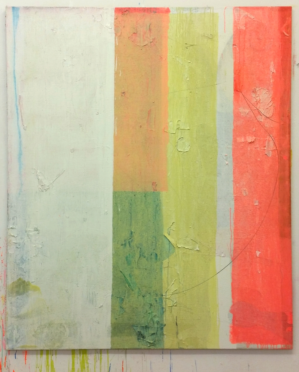 """Incubation"", 180x150 cm, Acrylfarbe, Jute, 2015"