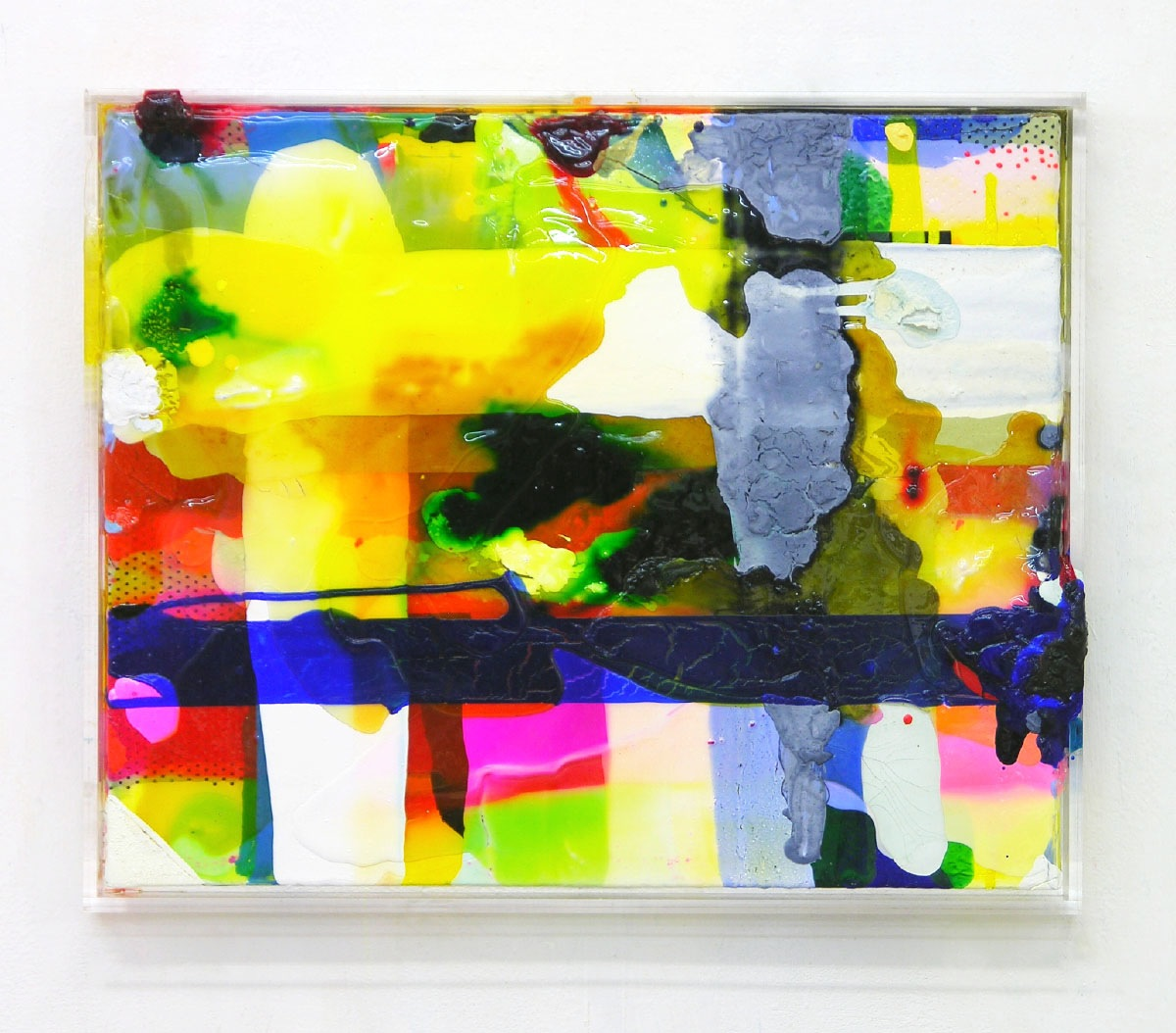 """Element"", 63x52x7 cm, 2007, Plexi ,Acryl, LW"