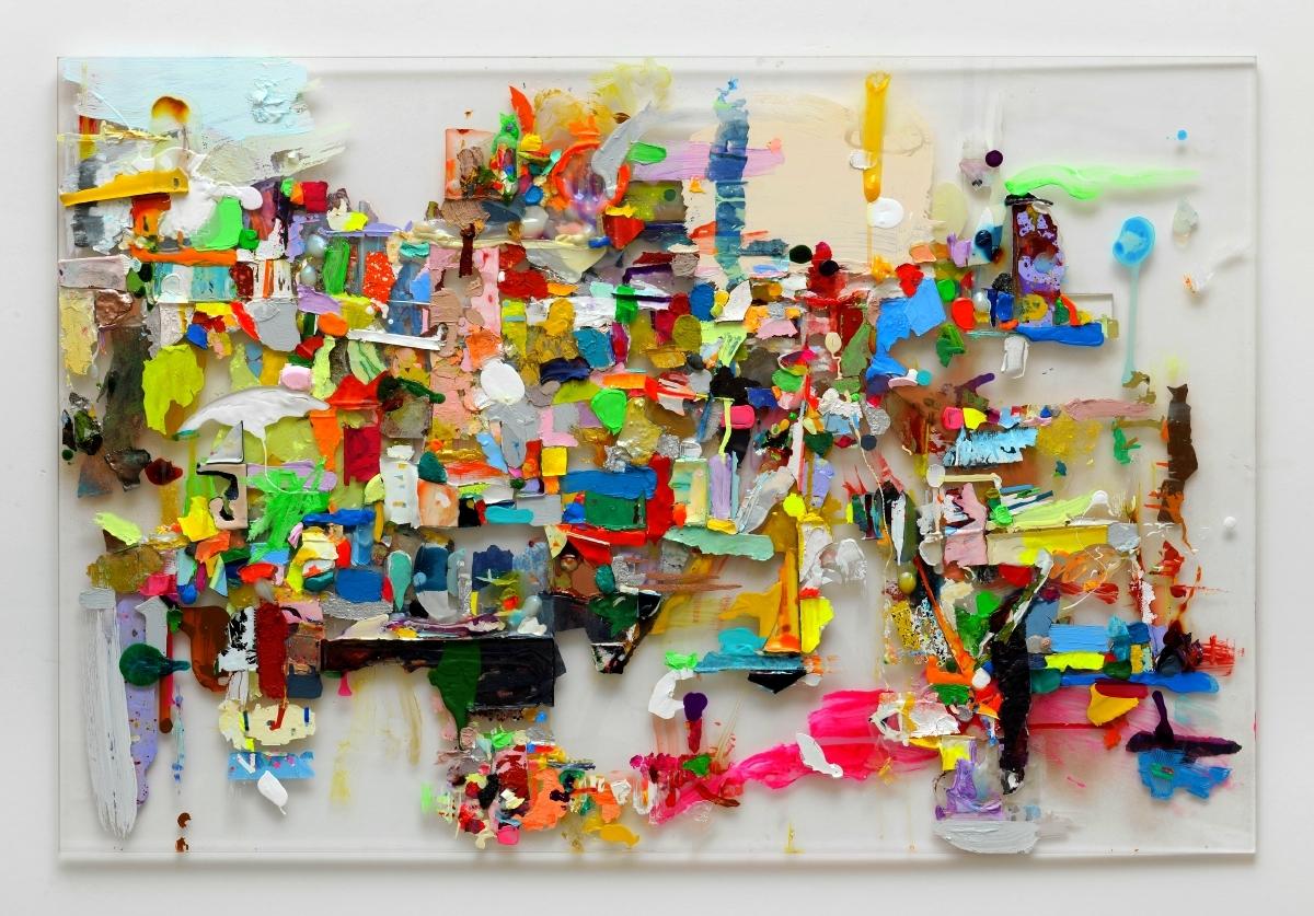 """Lust+Unlust"", 73x114 cm, Acryl auf Plexi, 2011"