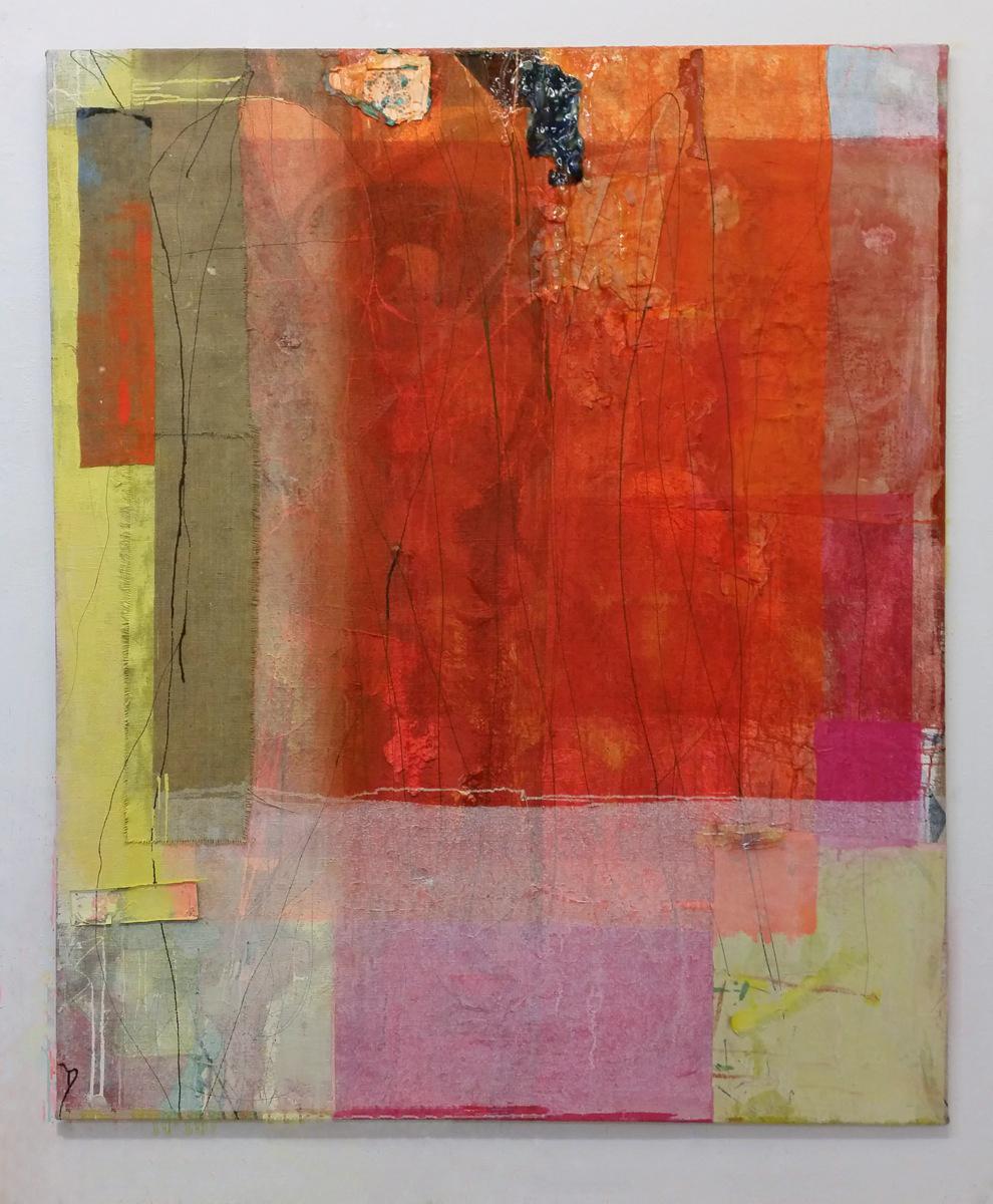 """""""Schmerzteppich"""", 2015, 180x150 cm, Acrylfarbe, Jute"""