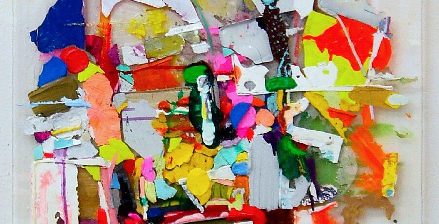 """Bunch"", 73x55 cm, Acryl, Plexi, 2011"