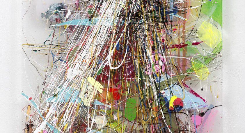 """""""Milchstrasse"""", 107x73x5 cm, Acrylfarbe, Plexi, 2013"""