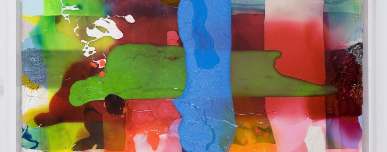 """Quadrat A"", 43x43x5 cm, 2007, Acrylfarbe, Leinwand, Plexi"