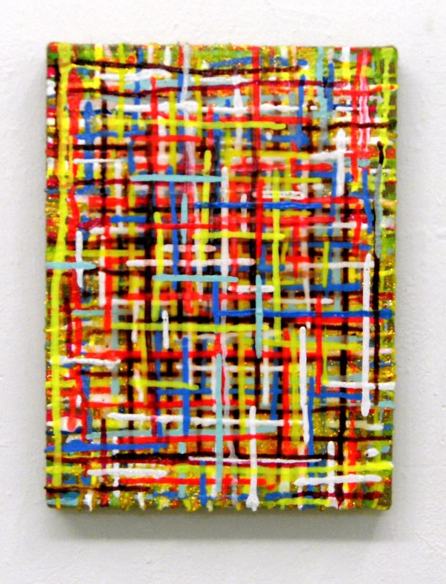 """""""Gloss"""", 40x30 cm, Acrylfarbe, Jute"""