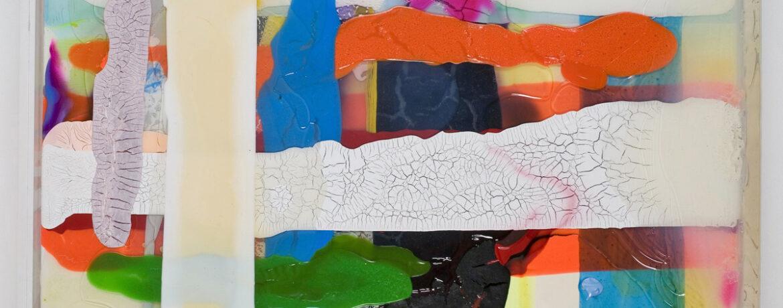 """""""Lichtung"""", 2006, Acrylfarbe, LW, Plexi, 43x43x5 cm"""