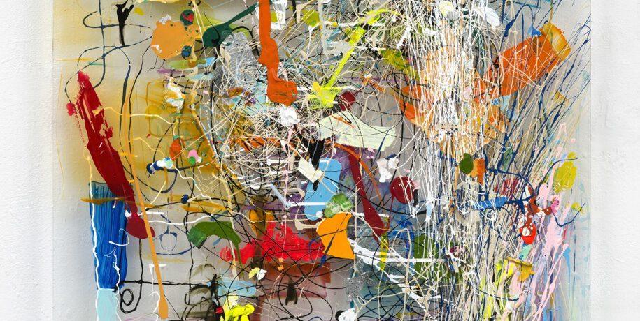 """""""Matrix A13"""", Acrylfarbe, Plexi, 2013"""