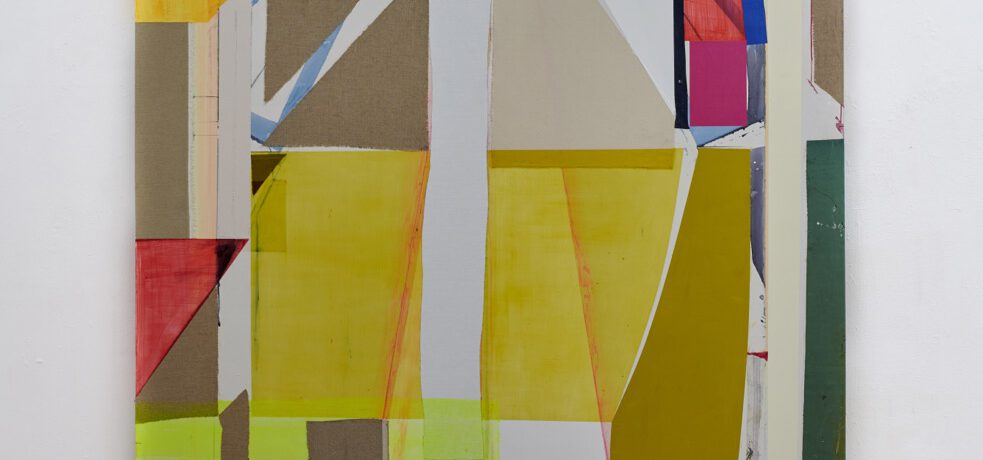 """Next Hetzler"", 260x195 cm, Acrylfarben, Tusche, div.Stoffe, Leinwand, 2019"